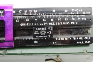 ww2 1945 USA slide rule weapon calculator guns, artillery