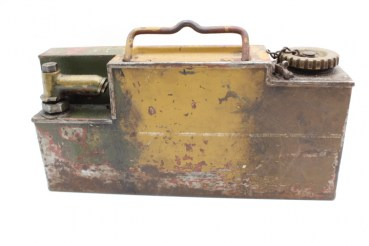 Ww2 Wehrmacht water tank, oil tank for MG 08 MG 08/15 with original paintwork mimicry