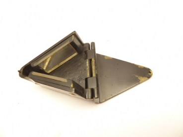 Angle prism, blackened brass housing to open