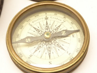 Compass in Pocket - Stanley London Pocket Compass 1885
