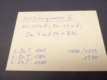 Air Force service regulation HDv - Entvernungsmesser II, Em 1.25 R + Em 1.5 R + Em 4m R34 + R36.