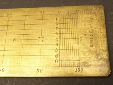 Old brass transverse scale 1: 500 - 1: 1250