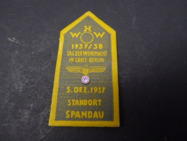 WHW badge - Wehrmacht Day in Gross - Berlin, Spandau location 1937