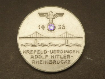 Badge - Krefeld Uerdingen - Adolf Hitler - Rhine Bridge 1936