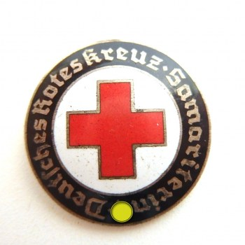Badge - German Red Cross Order DRK Samaritan woman enamelled