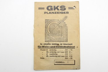 Ww2 Wehrmacht GKS plan indicator model E with description and original packaging for weir and field service
