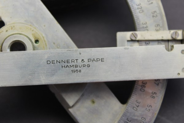 "BW map angle meter 1749 from the legendary company ""Dennert & Pape"" ARISTO - works from Hamburg"