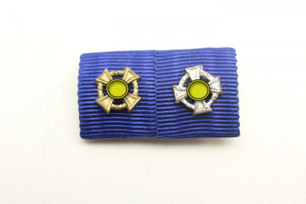 Feldspange / Bandspange Loyalty Service Medal Gold and Silver