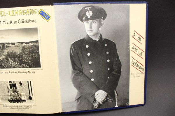 Estate of the NJL night hunting guide ship Togo, photo albums of the 11th minesweeping flotilla, boat M1103, submarine Priem