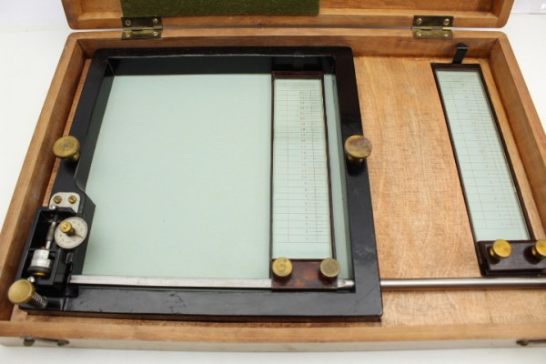 Ww2 pre-war map measuring device, vernier measuring device, cross table with vernier scale