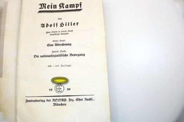 Mein Kampf Adolf Hitler popular edition from 1939