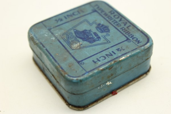 Royal Typewriter Ribbon in tin can
