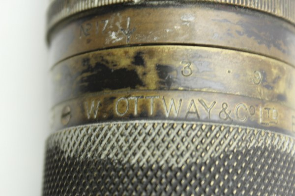 World War I marine telescope - telescopes - for gun, manufacturer W. Ottway & C, Ealing 1917 Great Britain