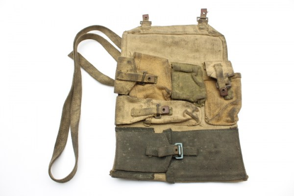 WW2 English MG accessory bag made of linen, 1944, Wallet Spare Parts Bren .303 M.G. MK I.