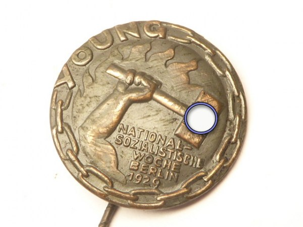 Conference badge Young National Socialist Week Berlin 1929