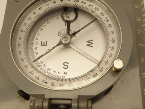 Geological compass from Breithaupt Kassel with leather pocket