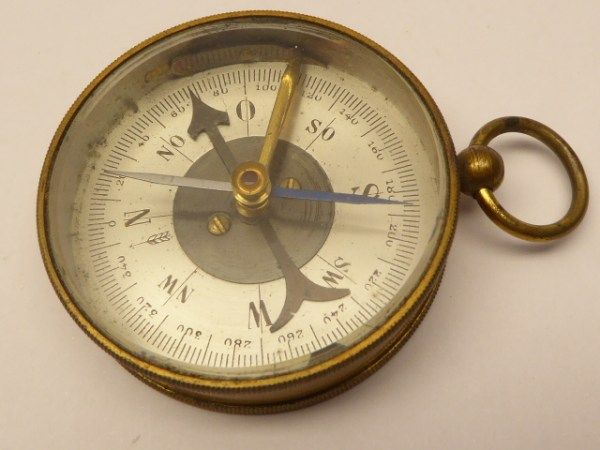 Old compass with a lock