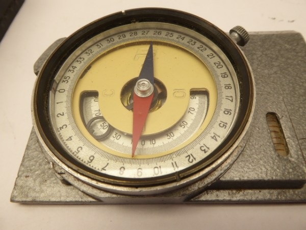 Compass in leather pocket, Russian