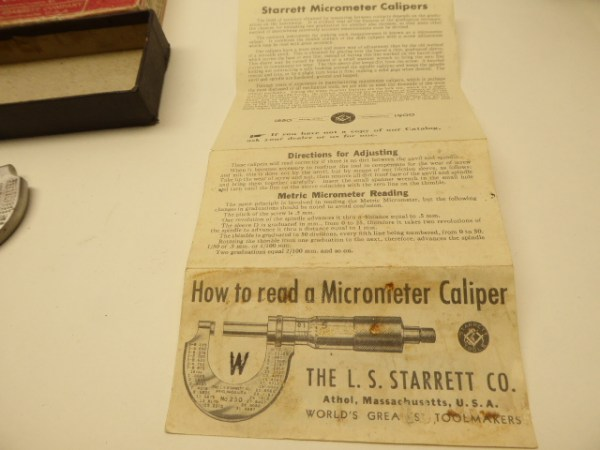 Starrett Micrometer Caliper 230 in the box