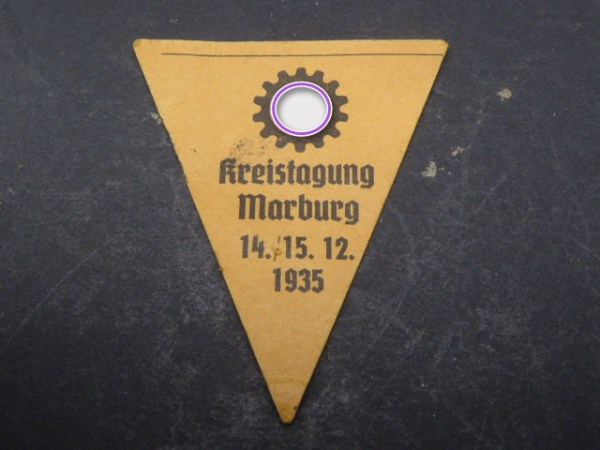 Badge - DAF District Conference Marburg 1935