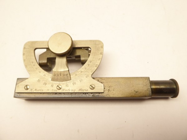 Old instrument for surveying around 1900 - Morin Paris dragonfly inclinometer - in a case