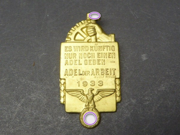 Badge - In future there will only be one nobility - nobility of labor - mint