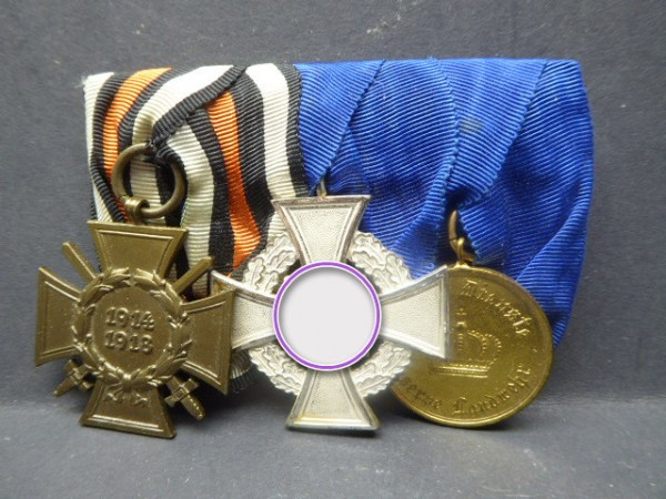 3 medals clasp with service awards + manufacturer