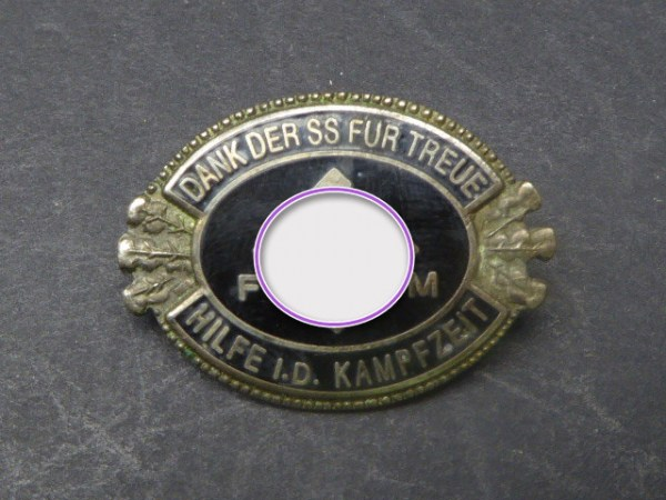 Badge - Thanks to the SS for loyal help during the fighting time -