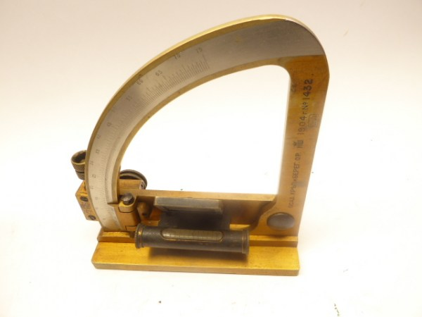 Russian artillery protractor dragonfly quadrant from 1904
