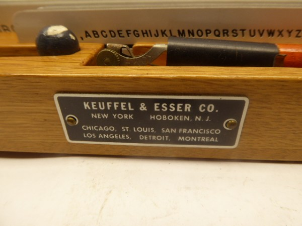 Leroy Lettering Set by Keuffel & Esser old and antique - font and symbol writing set approx. 1940 - 1950 in box