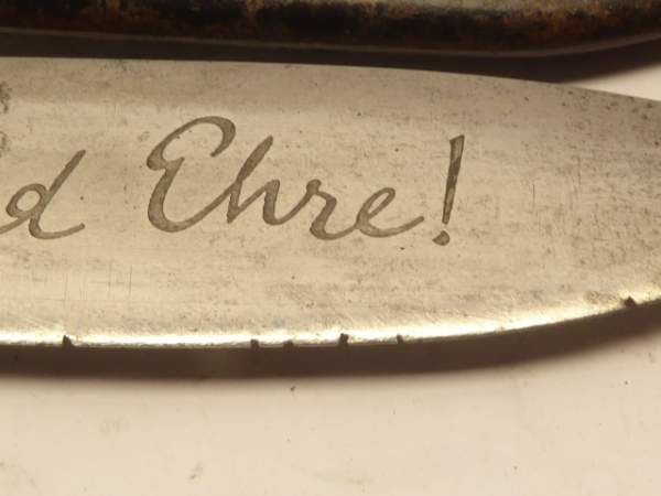 Hitler Youth knife / dagger with motto and double manufacturer RZM 7/66 Carl Eickhorn Solingen