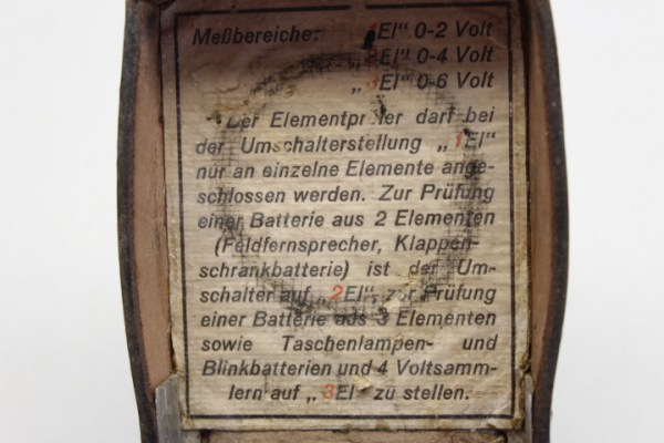 Ww2 news unit element inspector Wehrmacht for measuring field telephones, flap cabinet