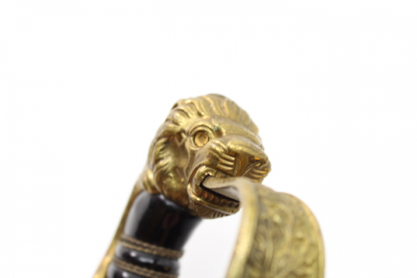 Prussian lion head saber of the artillery saber for officers with portepee