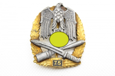 General assault badge with insert number 75, made by JFS, collector's product