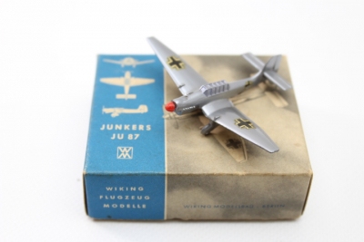 Airplane Wiking Junkers JU 87, scale 1: 200, Wiking Modellbau / Berlin, around 1960 in a box