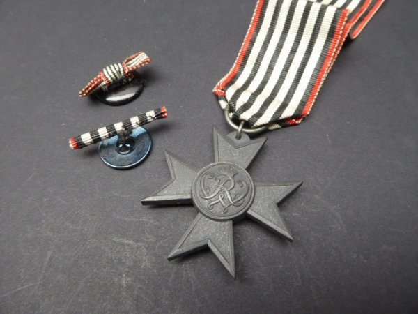 Cross of Merit of Merit 1916 on ribbon + two buttonhole clips