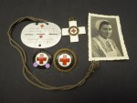 Estate of a DRK helper - EKM identification tag + photo + medal German Red Cross