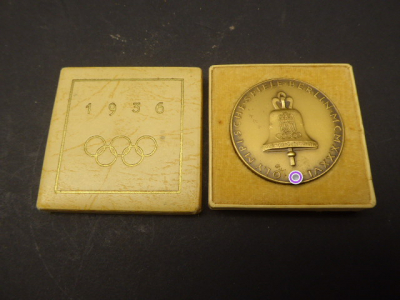 Medal - Olympic Games Berlin 1936 in box