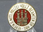 Badge - Association of the Middle Police - Execution - Officials Groß Hamburg
