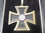 RK Knight's Cross on a ribbon in a case
