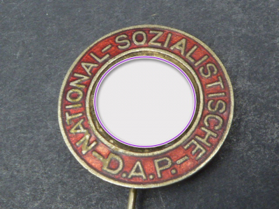 NSDAP party badge on needle