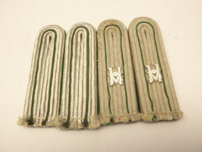 Two pairs of shoulder boards for Army Service Administration