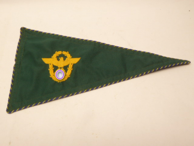 Police embroidered pennant
