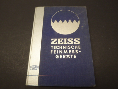 Book - Zeiss Technical Precision Measuring Instruments Catalog.