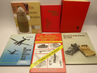 6x books on police weapons + muzzle loaders + one man bunker + tanks + air armaments + armaments locations