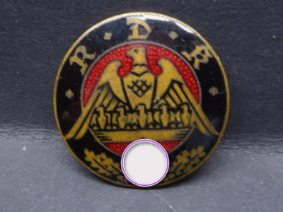 Badge - Reich Association of the Rich in Children of Germany for the Protection of the Family (RDK) - Badge for family warden