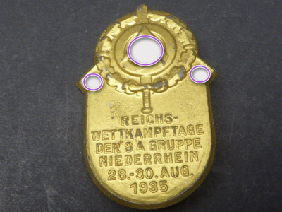 Badge - Reich competitions of the SA Group Niederrhein 1935