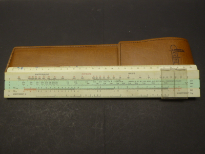Slide rule fedra in synthetic leather bag
