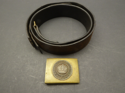 Saxony - belt lock + belt, both with manufacturer